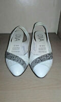Diva ladies white slingback shoes size 6