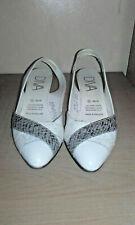 Diva ladies white slingback shoes size 6