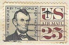C59 - 25c Abraham Lincoln single 1959 Stamp Used