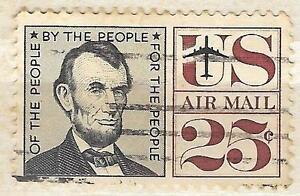 C59 - 25c Abraham Lincoln single 1959 Stamp Used