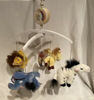 Dolly Noah's Parade Animals Ark Crib Mobile With Mount Mount Vintage Music Box