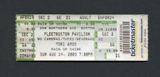 Original 2003 Tori Amos Unused Full Concert Ticket Fleet Boston MA Lottapianos