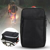 Cycling Bicycle Bike Rack Back Rear Seat Storage Bag Carrier Pannier with Light