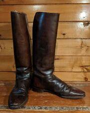 Vintage Men's Riding Boots Brown Leather 1950s size 11.5Us