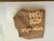 """Top Paw Fisher Fishing Vest TINY Dog Harness - Tan -up to 11.5"""" girth 10"""" neck"""