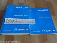 2007 MAZDA CX-9 Service & Wiring Diagrams Manuals Manual OEM