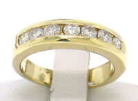 14k Solid Yellow Gold 0.56ctw 7 NICE Diamond Channel Set Classic Band Ring