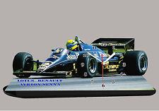 VETTURA F1, AYRTON SENNA, F1 LOTUS RENAULT -01, AUTO IN OROLOGIO MINIATURA