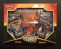 Pokemon Hidden Fates Charizard GX Box -4 Booster Packs +Promo Card- Hidden Fates