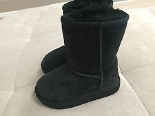 UGG Australia Classic Black Boots Toddler Girl Size 9 Style 5251T