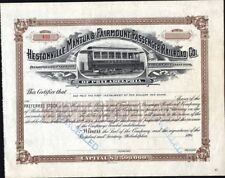 HESTONVILLE, MANTUA & FAIRMOUNT PASSENGER RAILROAD CO OF PHILADELPHIA, 1894,