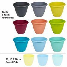 Pots bleus pour plante