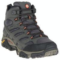 Merrell Moab 2 Mid Gore-Tex Waterproof Men Beluga Grey Trail Hiking Boots J06059