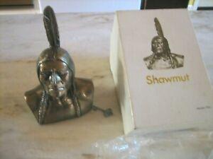 Vintage Shawmut Bank Indian Bronze BANTHRICO Figure Saving Bank
