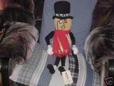 """24"""" Mr. Peanut Plush Doll Toy W/Cane & Scarf Tags 1991"""