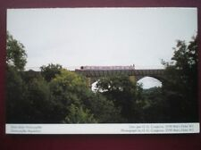 POSTCARD D2-4 DENBIGHSHIRE FRONCYSYLITE AQUADUCT - BARGE GOING OVER - GREAT VIEW
