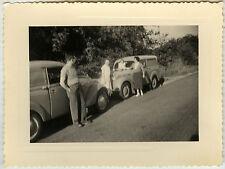 PHOTO ANCIENNE - VOITURE ENFANT HUMOUR - CAR CHILD FUNNY - Vintage Snapshot