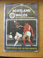 21/05/1980 Scotland v Wales [At Hampden Park] . Item In very good condition unle