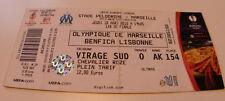 OLD TICKET EL OM Olympique Marseille France - Benfica Lisboa Portugal