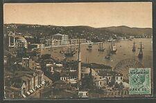 Levante 1923 Costantinopoli Sassone 76 usato su Cartolina Firmata - COL006