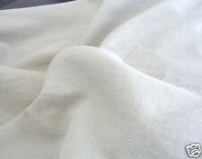 weiß 320g LEINEN für Kleidung Vorhang DekoStoff als Meterware Tolko