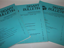 QTY-3 SIGART BULLETIN ARTIFICIAL INTELLIGENCE 1992 VINTAGE RARE LOT OF 3 PCS