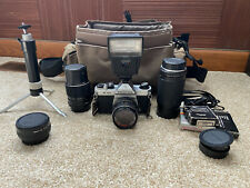 Pentax K1000 35mm Slr Film Camera with lenses and accessories
