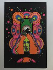 Arlo Guthrie Blacklight Poster Pin-up Print Doin' Our Thing Biker Double Sided