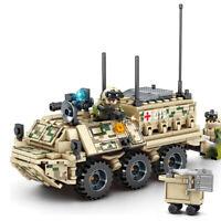 308pcs Gepanzerter Krankenwagen Modell Bausteine mit Armee Soldat Figuren Toys