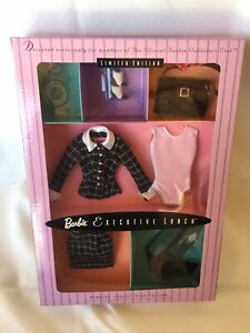 Barbie Executive Lunch Fashion 1998 LE, Collector's Club Nrfb!