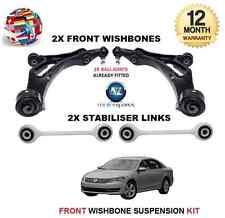 Vw Passat 2010 & gt & gton Frontal 2x Wishbone armas 4x Estabilizador De Enlace bares Kit de Suspensión