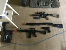 Large Lot of Airsoft Guns and Airsoft Gear (Message me for specifics)
