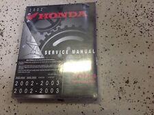 2002 2003 HONDA VFR800/A VFR 800A INTERCEPTOR Service Repair Shop Manual OEM