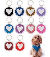 Pet Tag Custom Engraving  Love Heart  Dog Tags ID Tag Charm Collar  engraved