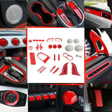 36pcs/Set Red Interior Accessories Decoration Trim For Ford mustang 2015-2018