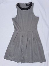 EX CON Zalora Size M Dress Grey Office Sleeveless Kardashian Chic Fit and Flare