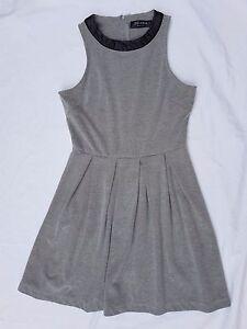 EUC Zalora Size M Dress Grey Office Sleeveless Casual Chic Minimalist 60's Mod