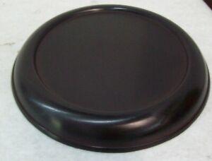 "Hosley 8"" Pillar Black Metal Candle Holder Plate Home Decor"