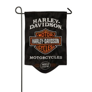 Harley Davidson American Legend Sculpted Applique Garden Flag
