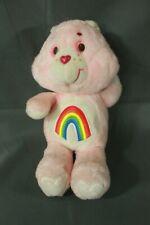 "Vintage 1983 CareBears Cheer Bear Plush 12"" Stuffed Toy (Flaws Read Description)"