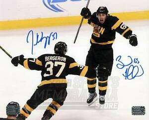 Patrice Bergeron Brad Marchand Boston Bruins Signed Autographed Celebration 8x10