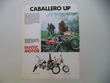 advertising Pubblicità 1975 MOTO FANTIC CABALLERO/TI/CHOPPER/SUPER ROCKET