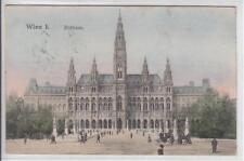 AK Wien I, Strassenpartie mit Rathaus, 1907