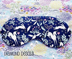 Eye Sleep Mask Unicorn Rabbit Soft Cotton Print Animal Blackout UK Sleeping Gift