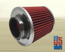 """2.5""""/3.0"""" Chrome Red Cold Air Dry Washable Filter BMW E30 E36 E46 E92 325 328"""