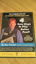 4 Easy Steps to Play Better Pool  Dave Pearson 2 Disc DVD World Record Trickshot