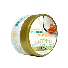 Organix Quenching Coconut Curls Curling Hair Butter Leave-In Or Rinse Out 187g