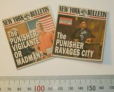 1/6 Scale Custom Newspapers 2 New York Bulletins featuring Punisher Headlines