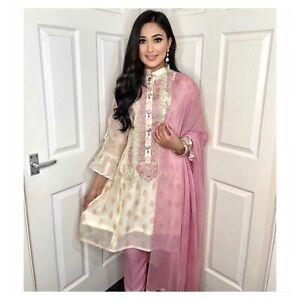 Pink blush collared kurta style Ready Made Salwar pakistani shalwar kameez