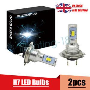 FOR BMW F30 F31 3 Series 2x Bulbs H7 LED Cree Headlights High Beam 6000K White